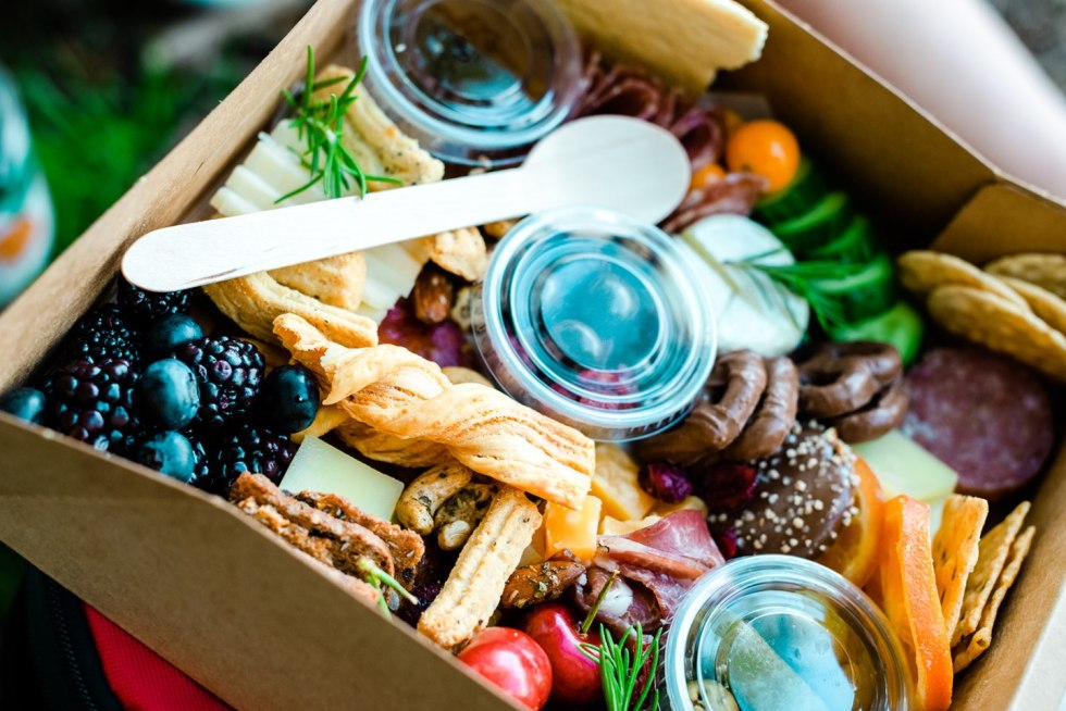The Top 3 Places to Have a Picnic in Raleigh - I'm Fixin' To - @mbg0112   Picnic in Raleigh by popular North Carolina blog, I'm Fixin' To: image of a boards and bites box.