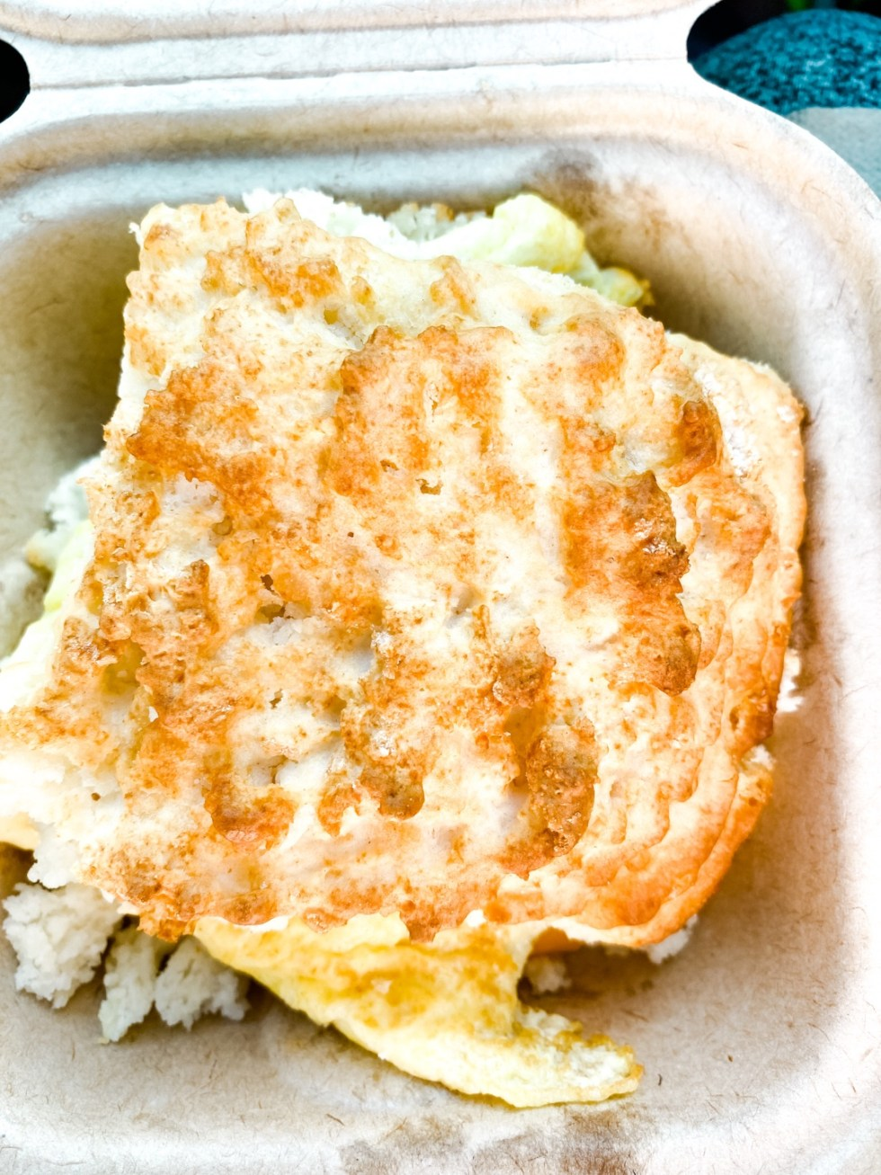 Weekend In Asheville by popular NC travel blog, I'm Fixin' To: image of a breakfast sandwich.