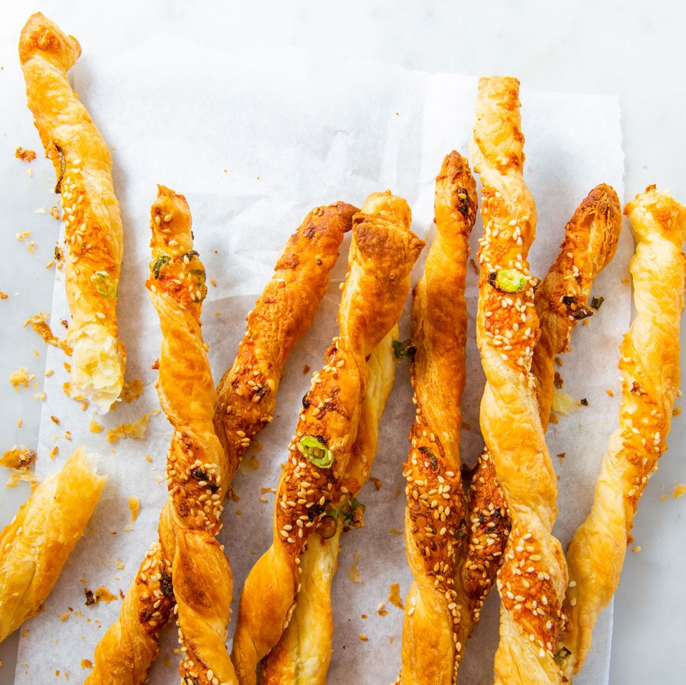 Best Southern Food by popular N.C. lifestyle blog, I'm Fixin' To: image of cheese straws.