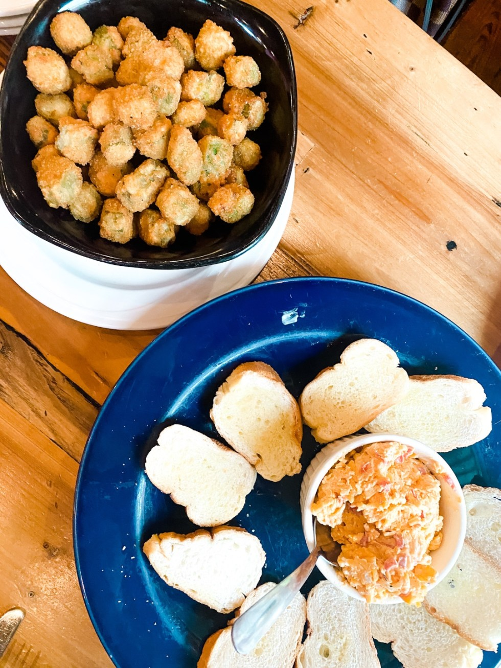 Best Southern Food: Top 7 Southern Staples to Try - I'm Fixin' To - @mbg0112 |Best Southern Food by popular N.C. lifestyle blog, I'm Fixin' To: image of fried okra.
