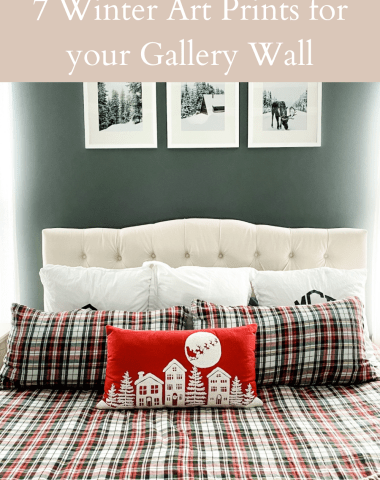 Home Decor: 7 Winter Art Prints for your Gallery Wall - I'm Fixin' To - @imfixintoblog