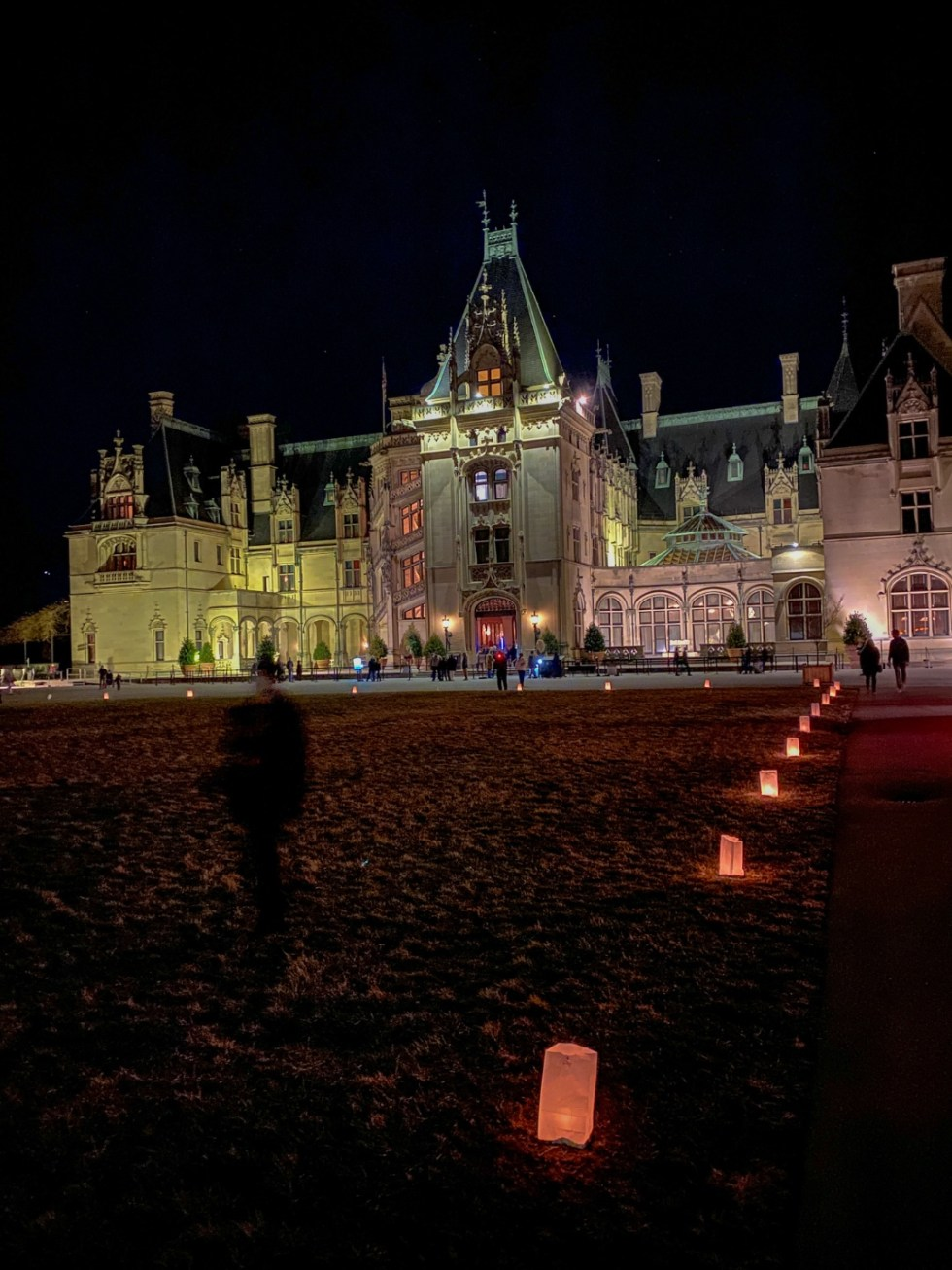 Christmas in Asheville NC by popular NC lifestyle blog, I'm Fixin' To: image of the Biltmore House.