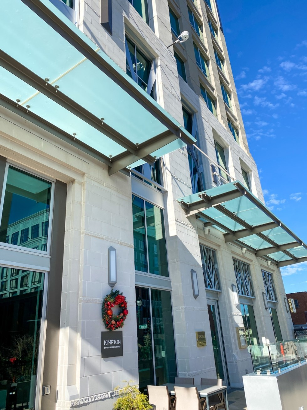 Christmas in Asheville: a Weekend Getaway During the Holidays - I'm Fixin' To - @imfixintoblog | Christmas in Asheville NC by popular NC lifestyle blog, I'm Fixin' To: image of the Kimpton hotel.