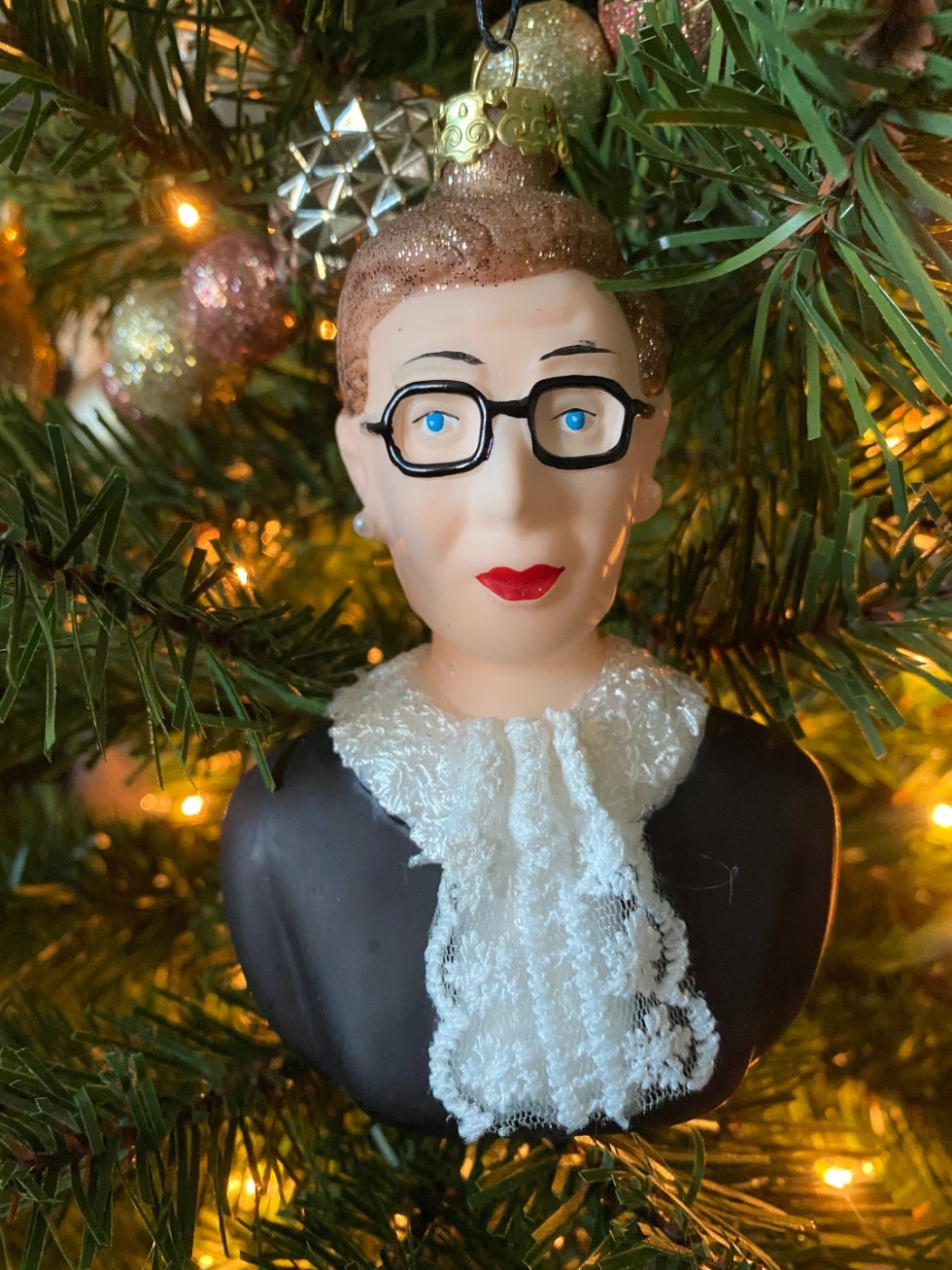 2020 Holidays: Unique Christmas Ornaments - I'm Fixin' To - @mbg0112 |Unique Christmas Ornaments by popular NC life and style blog, I'm Fixin' To: image of a RBG ornament.