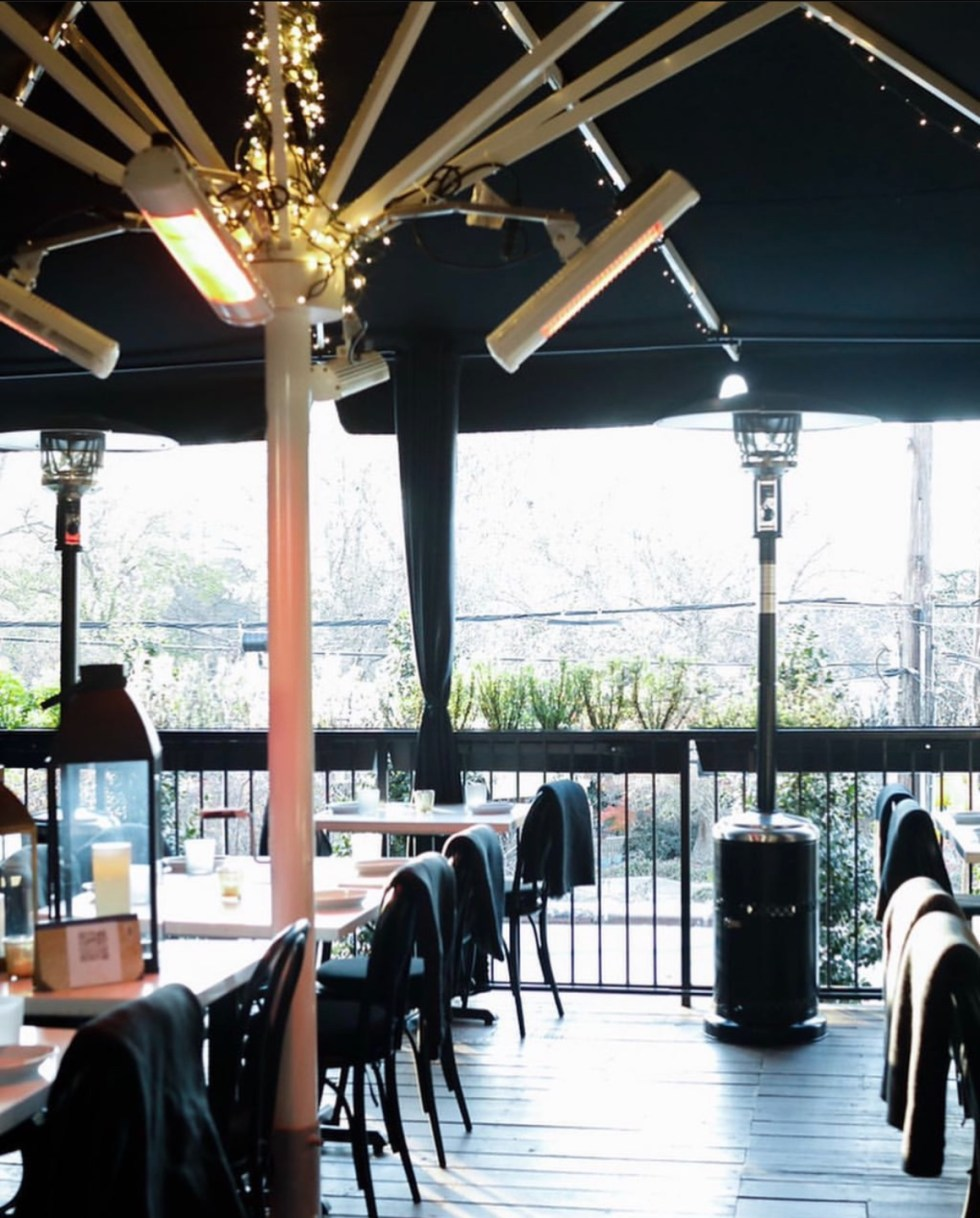 Restaurants with Patios in the Triangle by popular NC lifestyle blog, I'm Fixin' To: image of the Jolie restaurant patio.