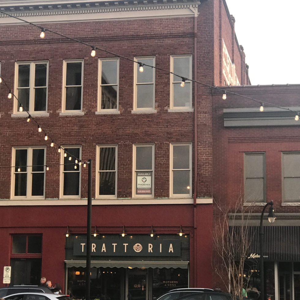 Counties in NC by popular NC blog, I'm Fixin' To: image of Trattoria in NC.