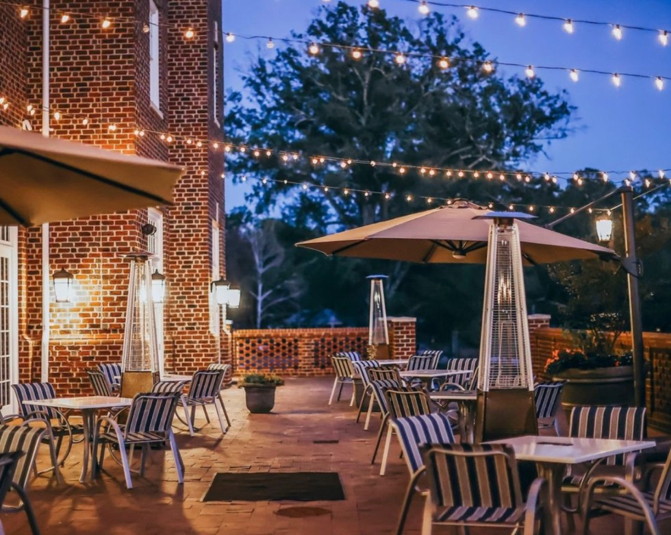 A Local Valentine's Gift Guide for Raleigh, NC - I'm Fixin' To - @imfixintoblog |Valentine's Day Gift Guide by popular NC lifestyle blog, I'm Fixin' To: image of the Mayton Inn patio.
