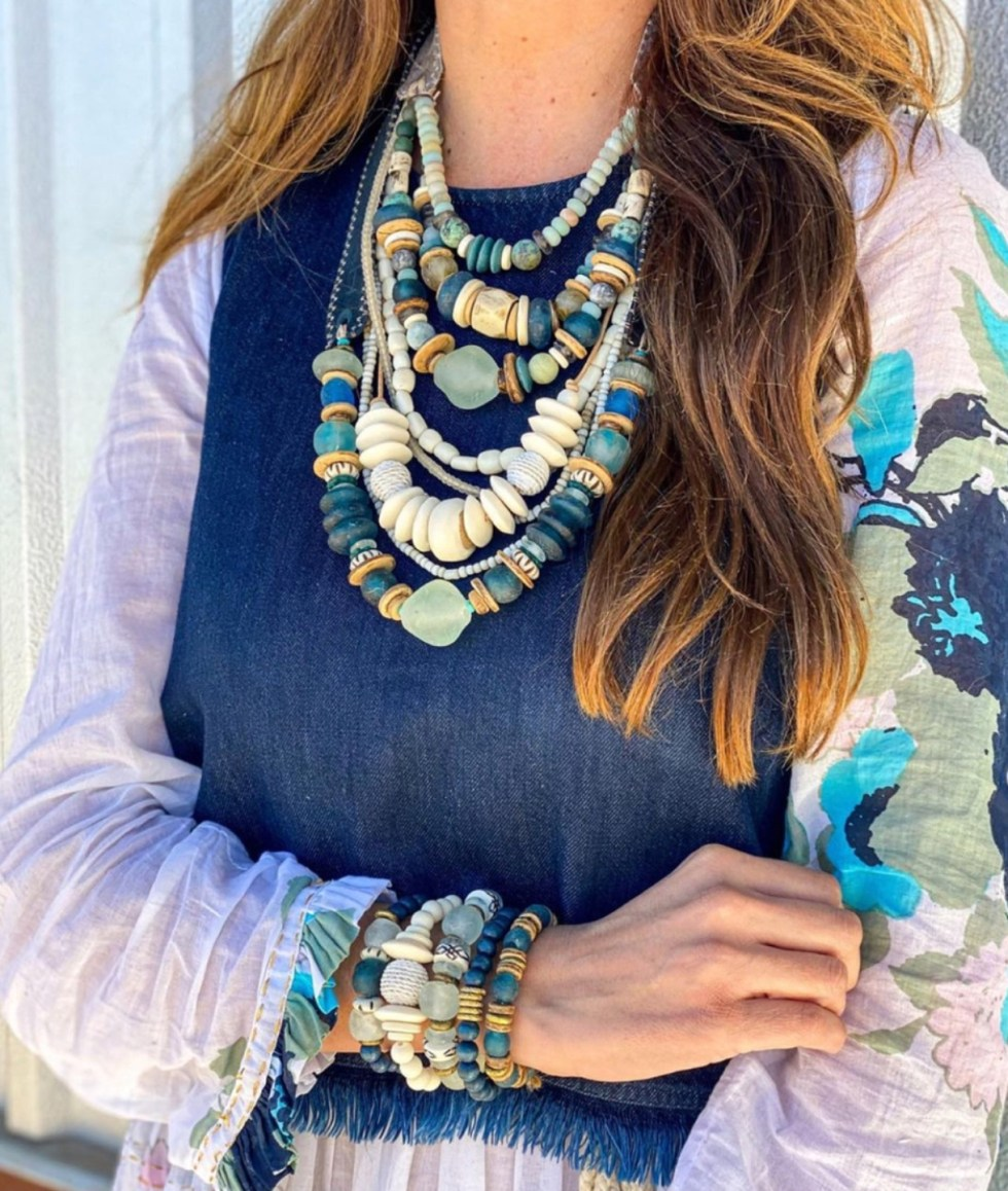 Celebrate International Women's Day with these Women Owned Businesses - I'm Fixin' To - @imfixintoblog |Women Owned Businesses by popular NC lifestyle blog, I'm Fixin' To: image of a woman wearing Twine and Twig jewelry.