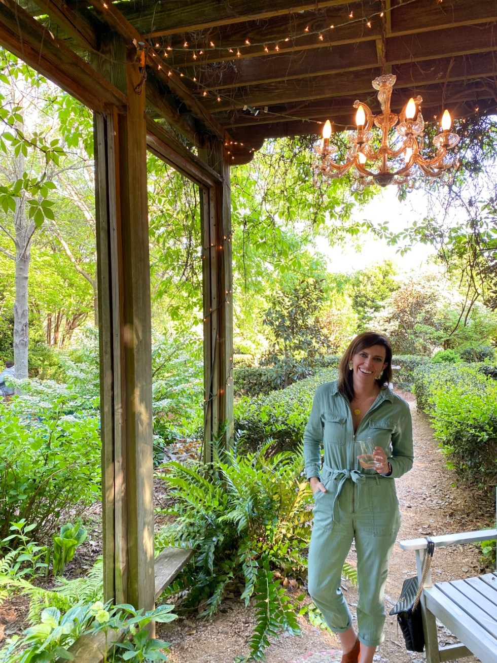 Top 7 Best Patios in Charlotte, NC featured by top NC lifestyle blogger, I'm Fixin' To: Rosie's Coffee and Wine Garden