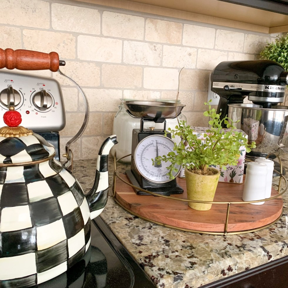 MacKenzie-Childs Spring Decor: 7 Favorites - I'm Fixin' To - @imfixintoblog | Mackenzie-Childs Spring Decor by popular NC life and style blog, I'm Fixin' To: image of a Mackenzie-Childs tea pot.