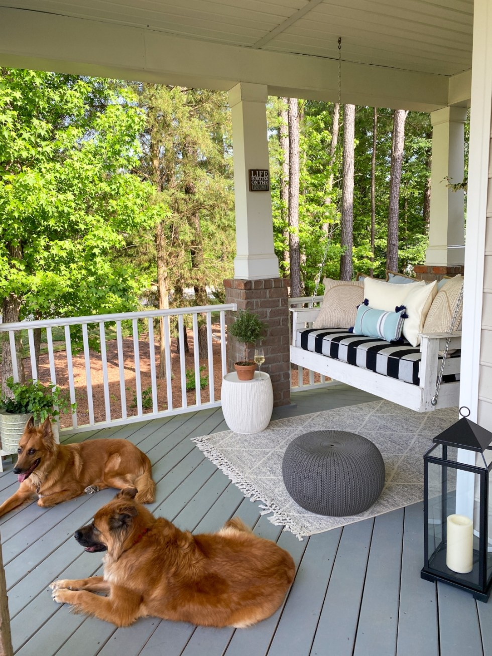 Our Front Porch Reveal with Fairview Garden Center