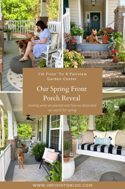 Our Front Porch Reveal with Fairview Garden Center - I'm Fixin' To - @imfixintoblog