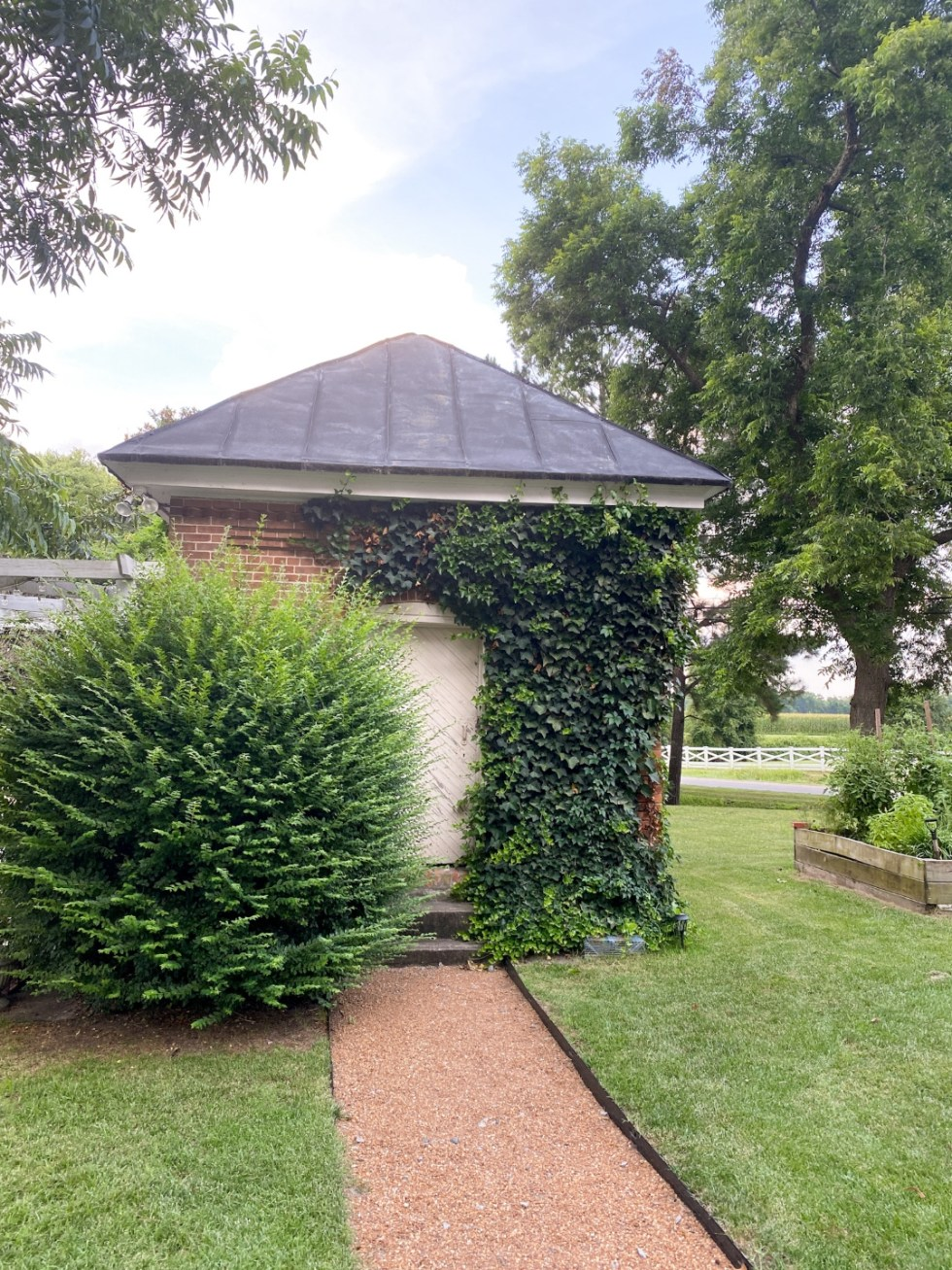 Top 10 Best Things to Do in Edenton, NC: A Complete Travel Guide - I'm Fixin' To - @imfixintoblog | Edenton Travel Guide by popular NC travel guid, I'm Fixin' To: image of a red brick building covered in ivy.