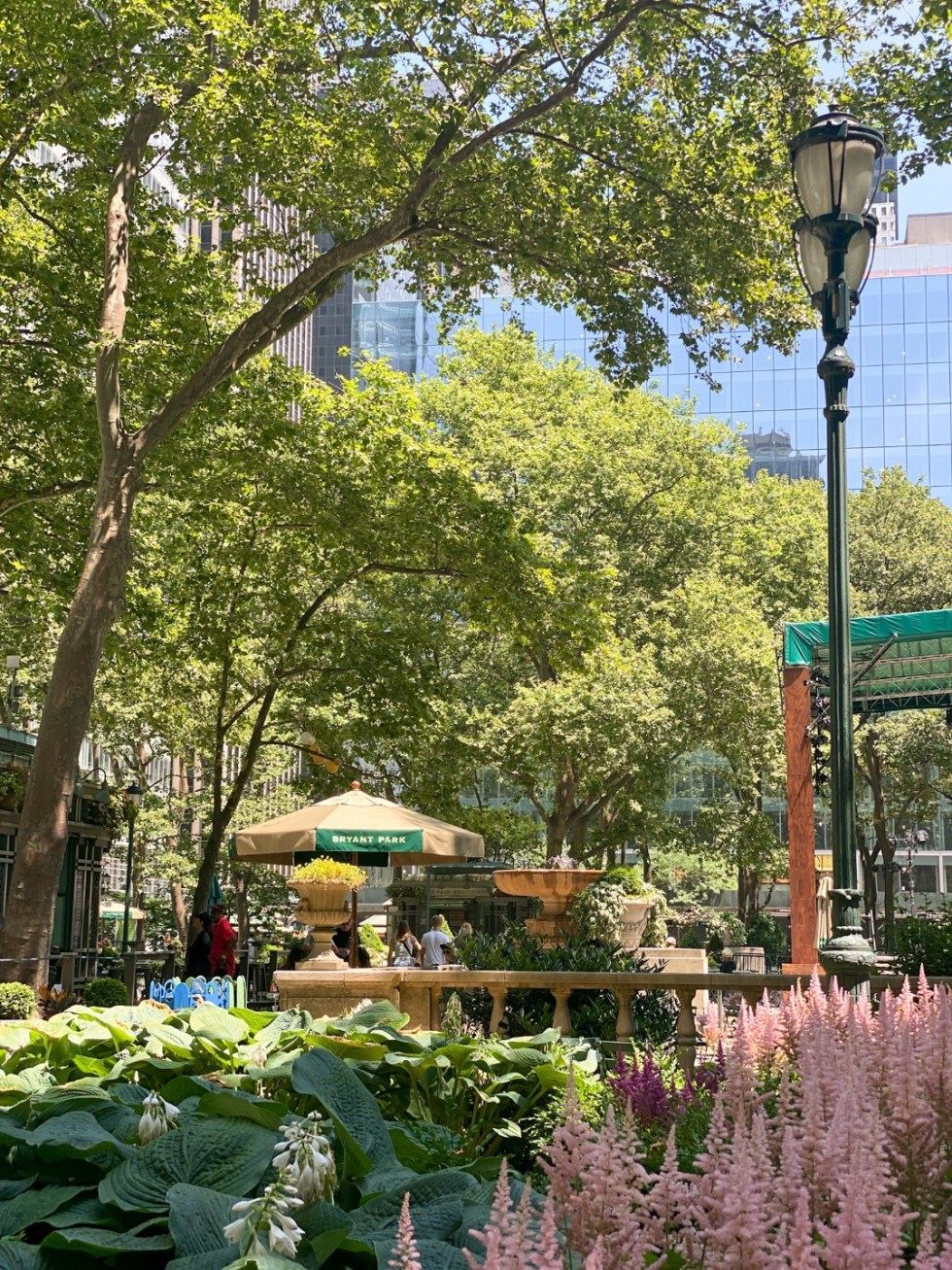 NYC Summer Weekend: Things to Do in NYC in the Summer - I'm Fixin' To - @imfixintoblog   NYC Summer Weekend by popular NC travel blog, I'm Fixin' To: image of Bryant Park.