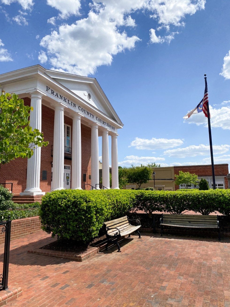 An Update on My North Carolina 100 County Tour - I'm Fixin' To - @imfixintoblog | Things to do in North Carolina by popular NC travel blog, I'm Fixin' To: image of Franklin County courthouse.