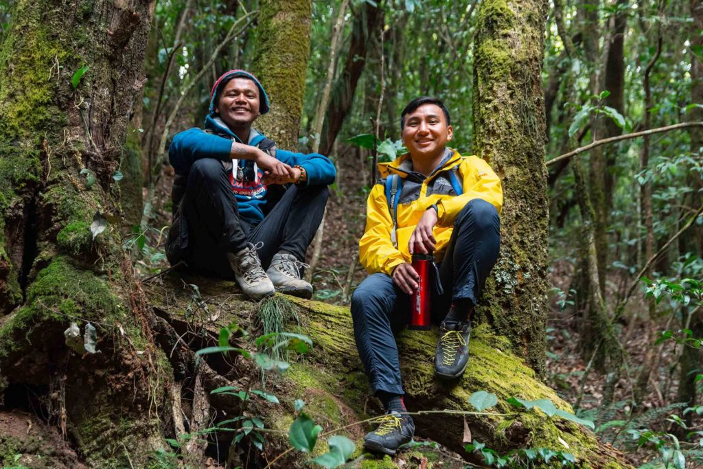 Posing for a Photo in Dense forest of Shivapuri National Park