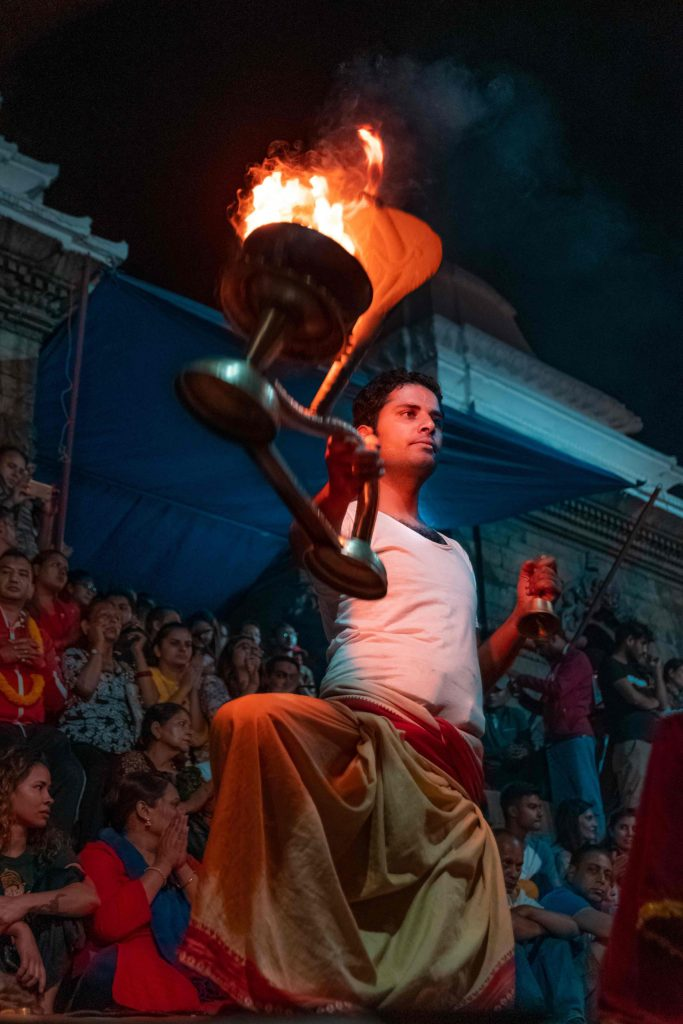 Aarati Performed by priest at Pashupatinath Temple, Kathmandu Nepal