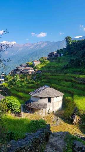 Traditional Circular House at Bhujung Village