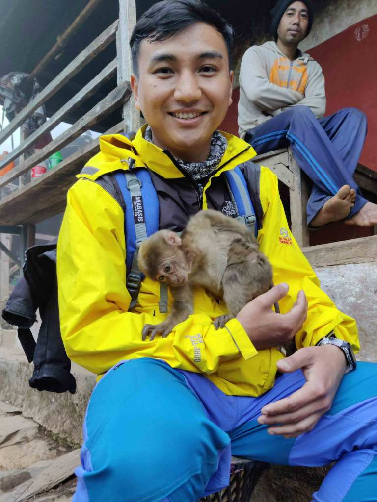 Pet Monkey at Khasrang - Way to Chhimkeshwori - Imfreee.com