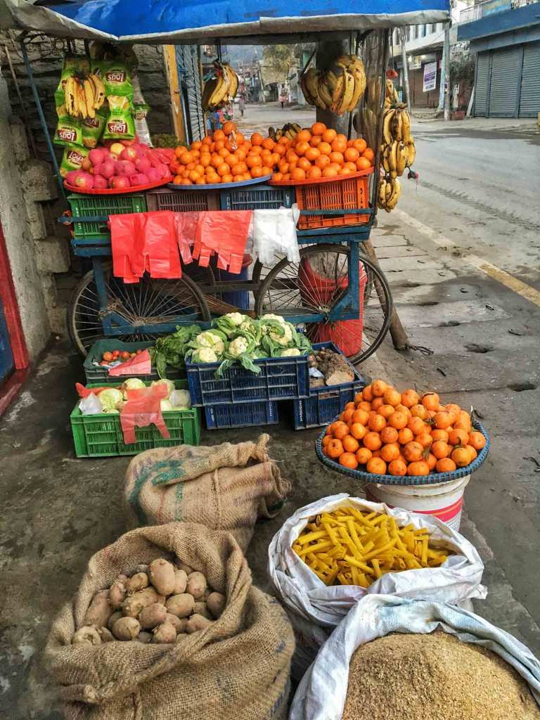 Fruit Stall at Besisahar, Lamjung Nepal