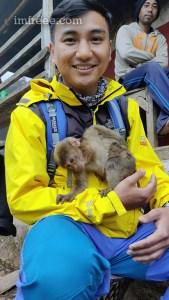Pet Monkey at Khasrang Village