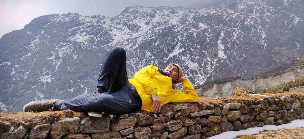 Rest after Laurebina La Pass
