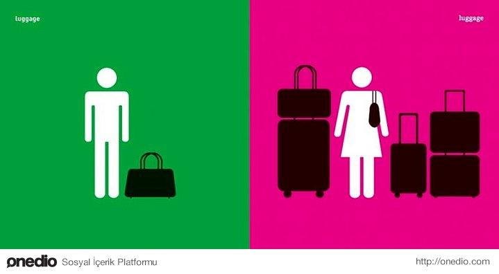 Erkek ve Bavul vs Kadın ve Bavul