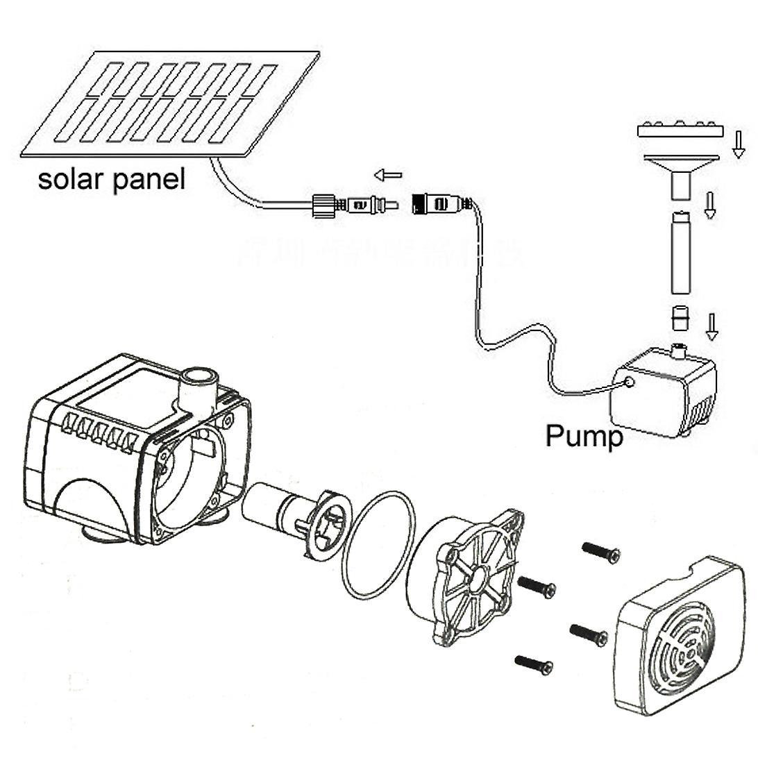Trixes Solar Power Fountain Water Pump Kit Garden Water Feature