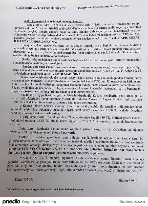 'Türkiye'de İlk Kez Bir Hayvana Zarar Veren İnsana Hapis Cezası Verildi'