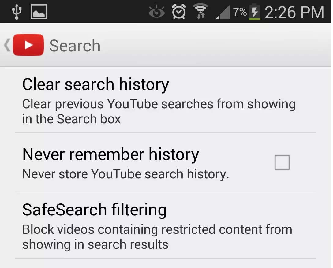 How To Clear The YouTube App's Search History On Android