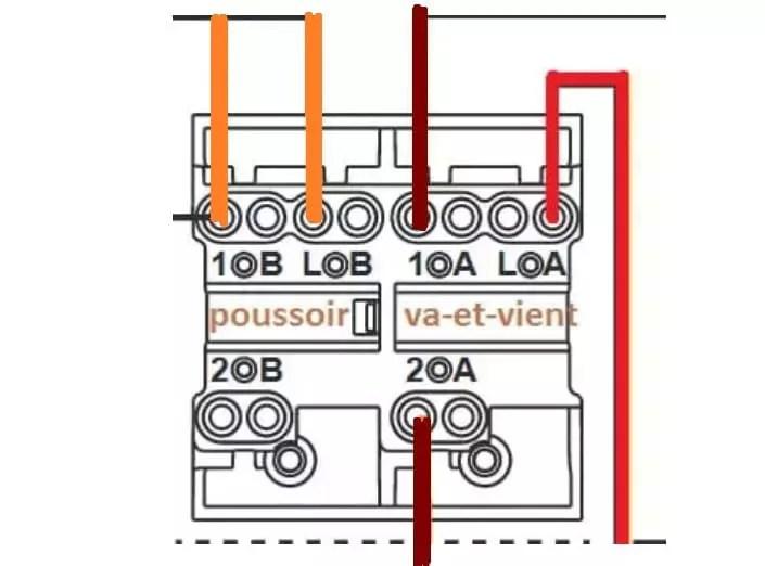 branchement double interrupteur dont