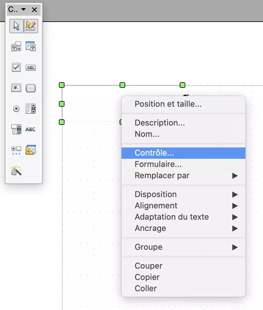 formulaire pdf creer avec open office