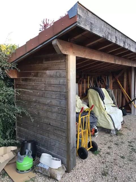 fermeture abri de jardin avec portes