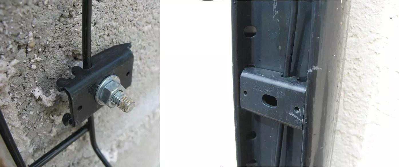 pose grillage soudes sur pilier beton