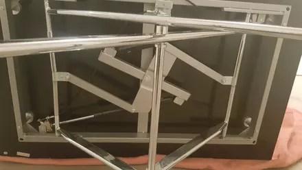 table basse relevable bloquee en