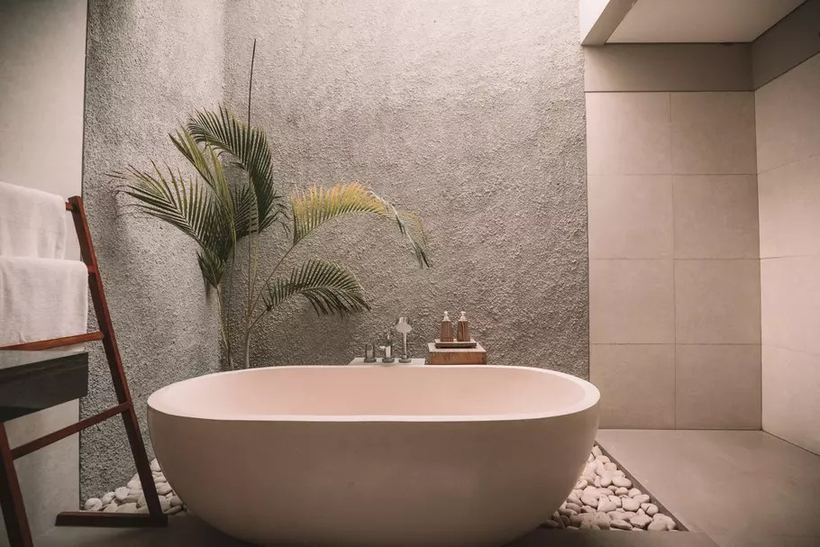 salle de bains taupe tout pour un