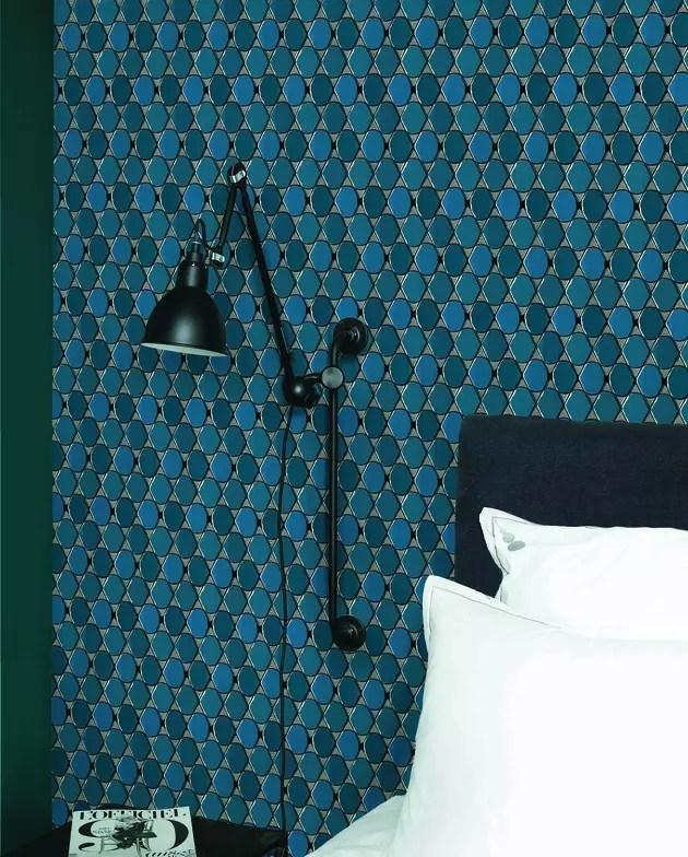 Papier Peint Bleu Nobilis Et Maison Sarah Lavoine