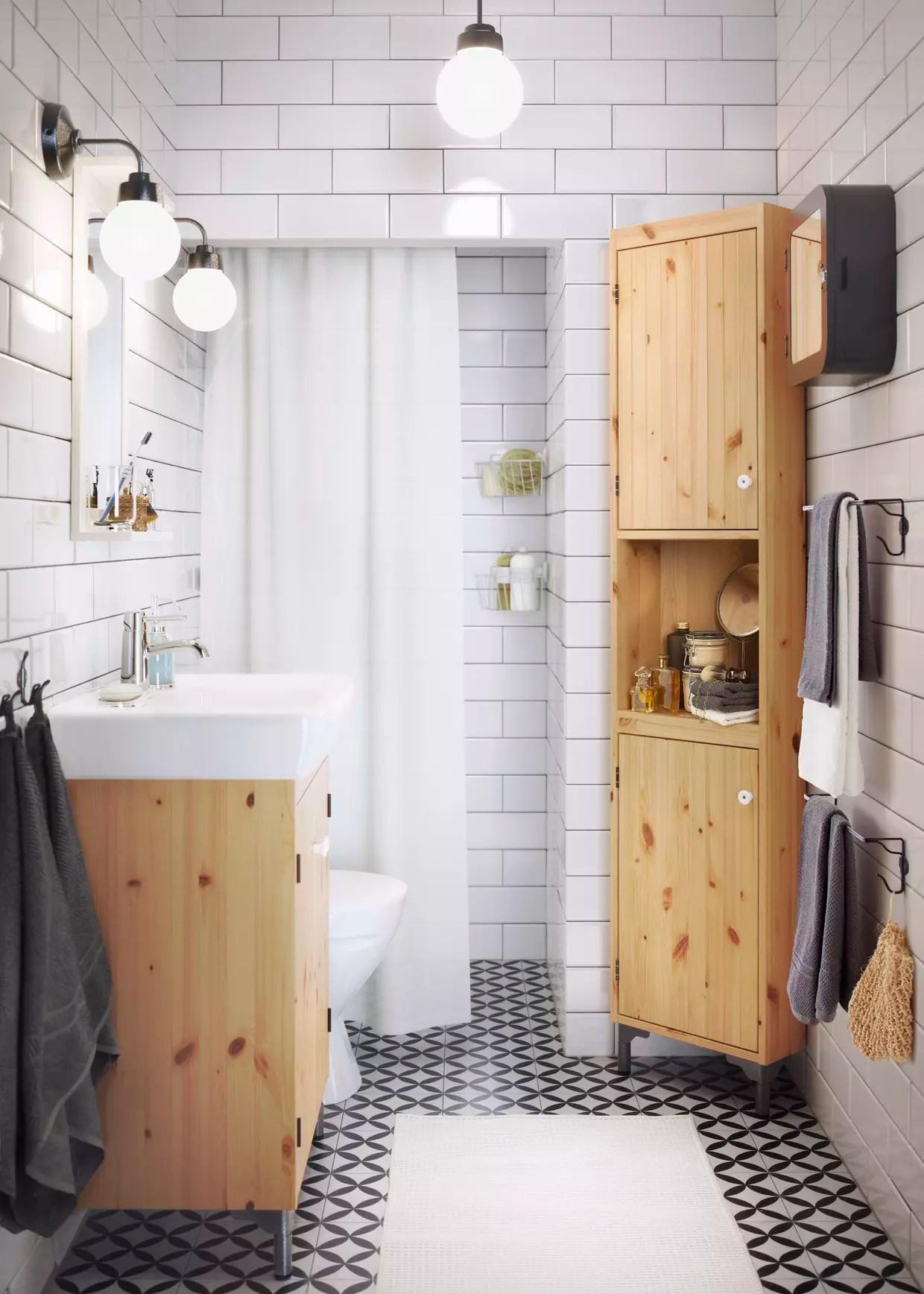 un meuble d angle pour la salle de bains