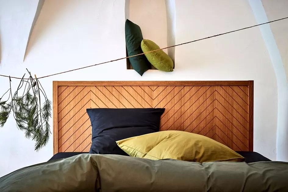 tete de lit en bois alinea