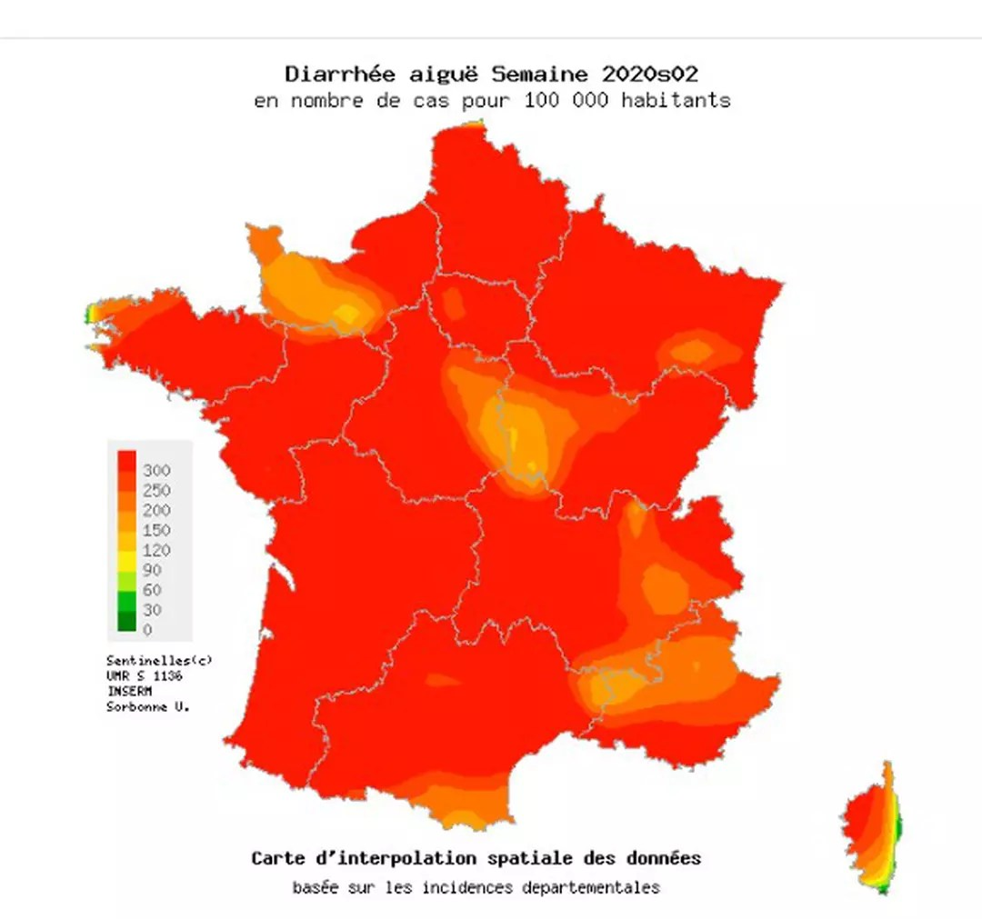 epidemie gastro 2020 carte regions in the red, contagion, what to do? | Web24 News