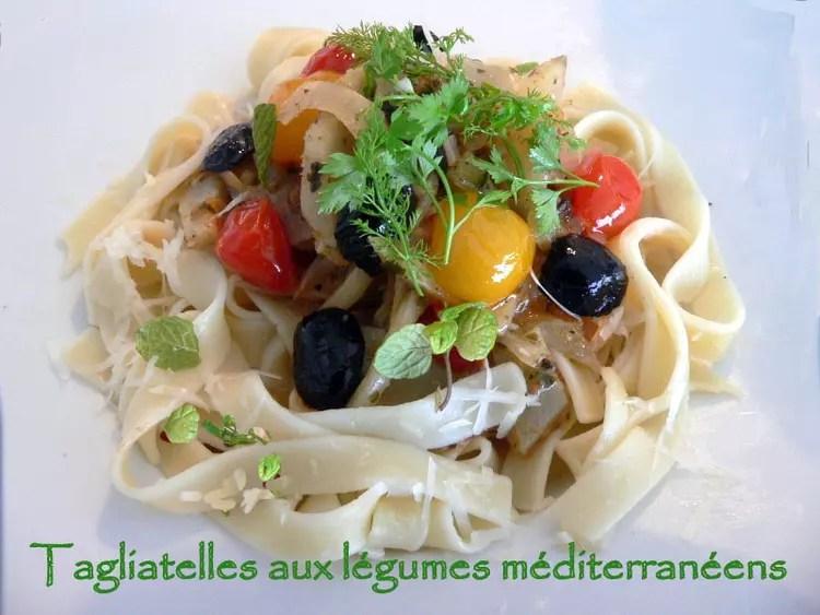 tagliatelles aux legumes mediterraneens