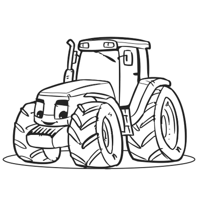 coloriage gros tracteur en ligne