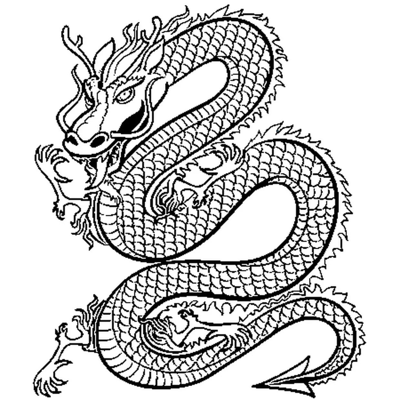 Coloriage Dragon De Chine En Ligne Gratuit A Imprimer