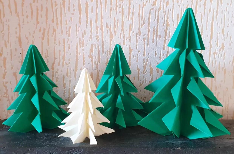 Sapin De Noel En Origami Pliage Papier Video