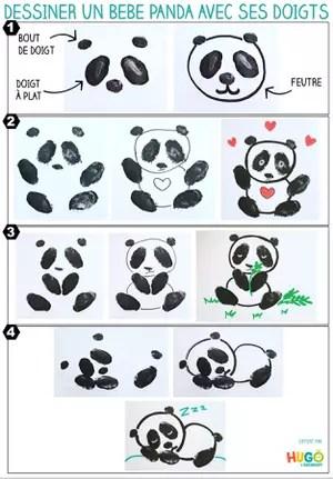 Dessin Bebe Panda Apprendre A Dessiner Un Panda Kawaii