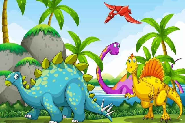 Coloriage Dinosaure sur Hugolescargot.com