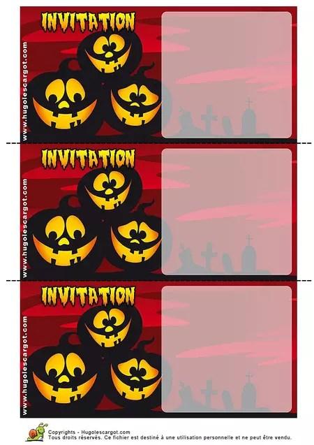 carte invitation halloween