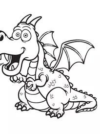 Coloriage Dragon Page 1