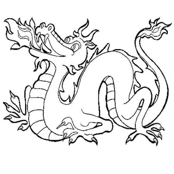 Coloriage Dragon De Feu En Ligne Gratuit A Imprimer