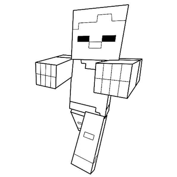 Coloriage Zombie De Minecraft En Ligne Gratuit A Imprimer